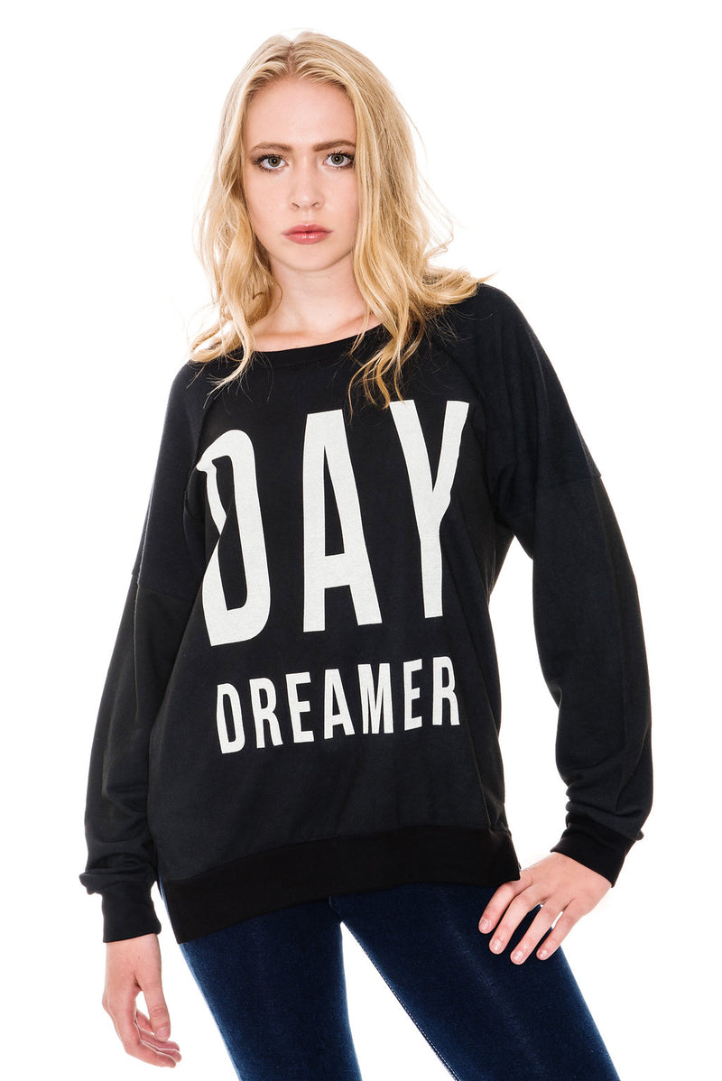 A POSTCARD FROM BRIGHTON DAY DREAMER SWEAT TOP - BLACK