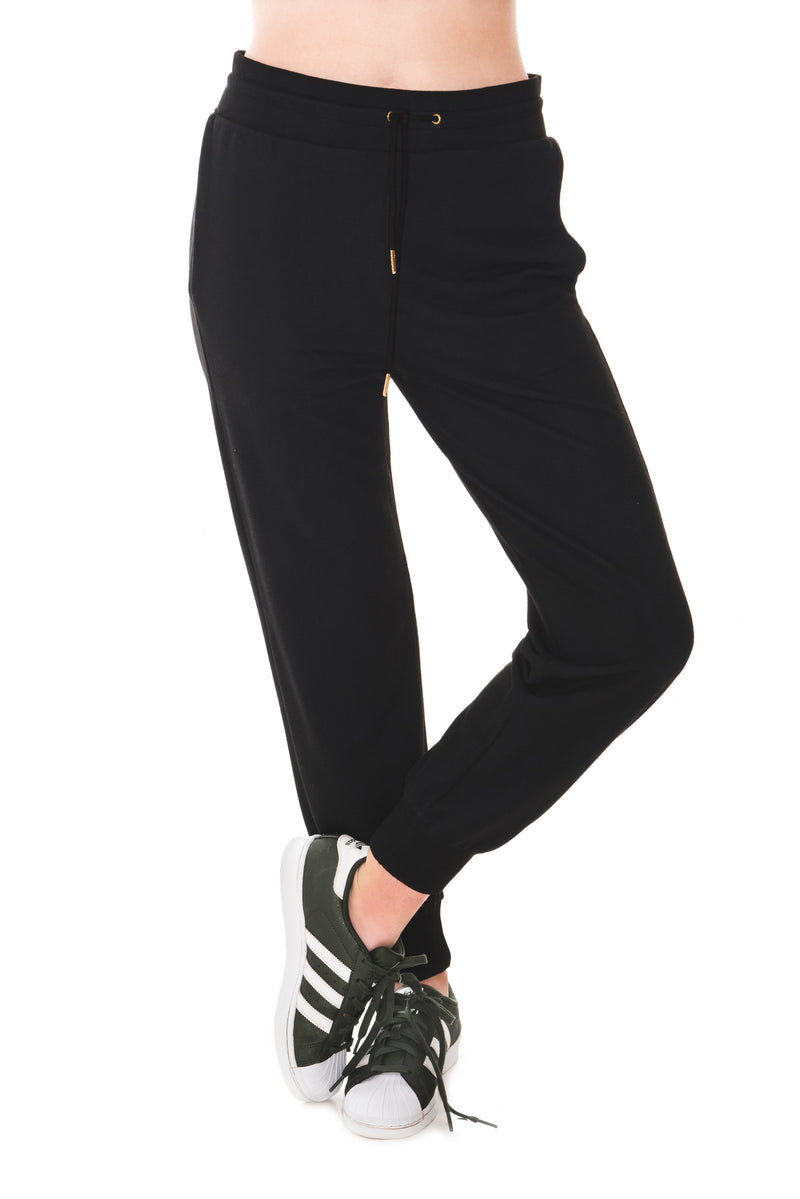 A POSTCARD FROM BRIGHTON MAISIE JOGGING BOTTOMS - BLACK