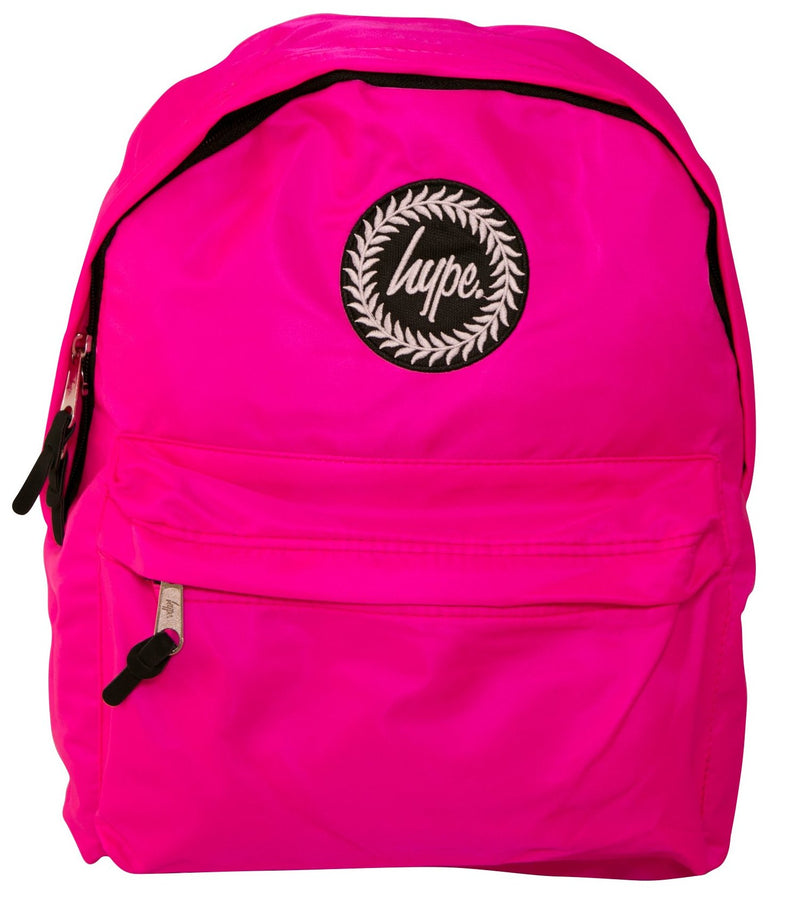 HYPE PURPLE FLURO BACKPACK RUCKSACK BAG - PINK