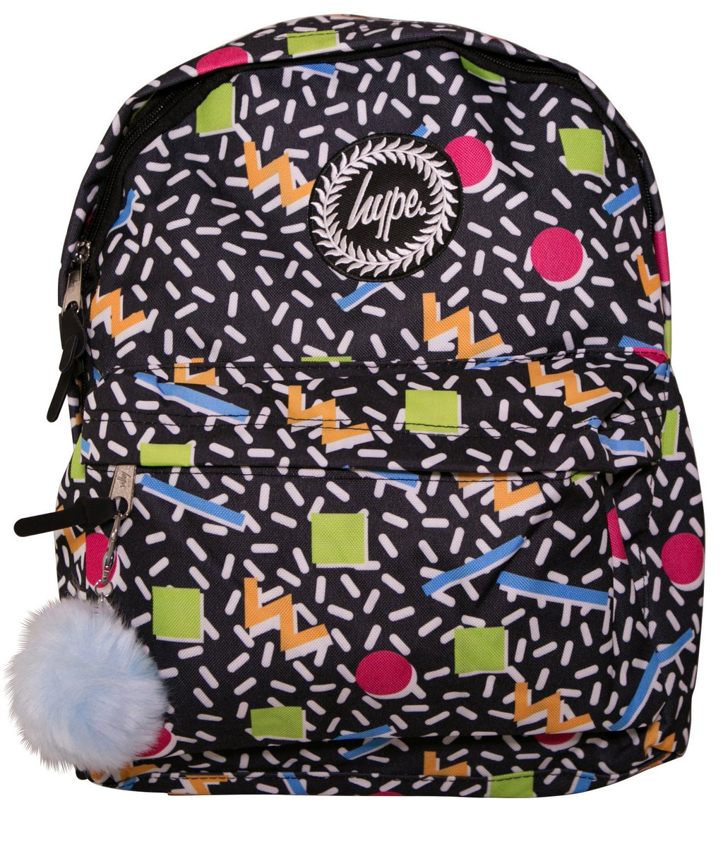 HYPE NINETIES GEO BACKPACK RUCKSACK BAG - MULTI