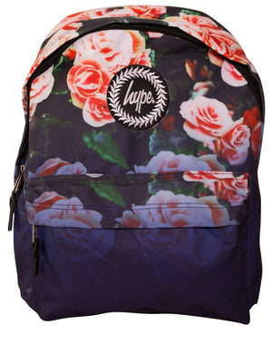 HYPE NAVY FLORAL FADE BACKPACK RUCKSACK BAG - MULTI