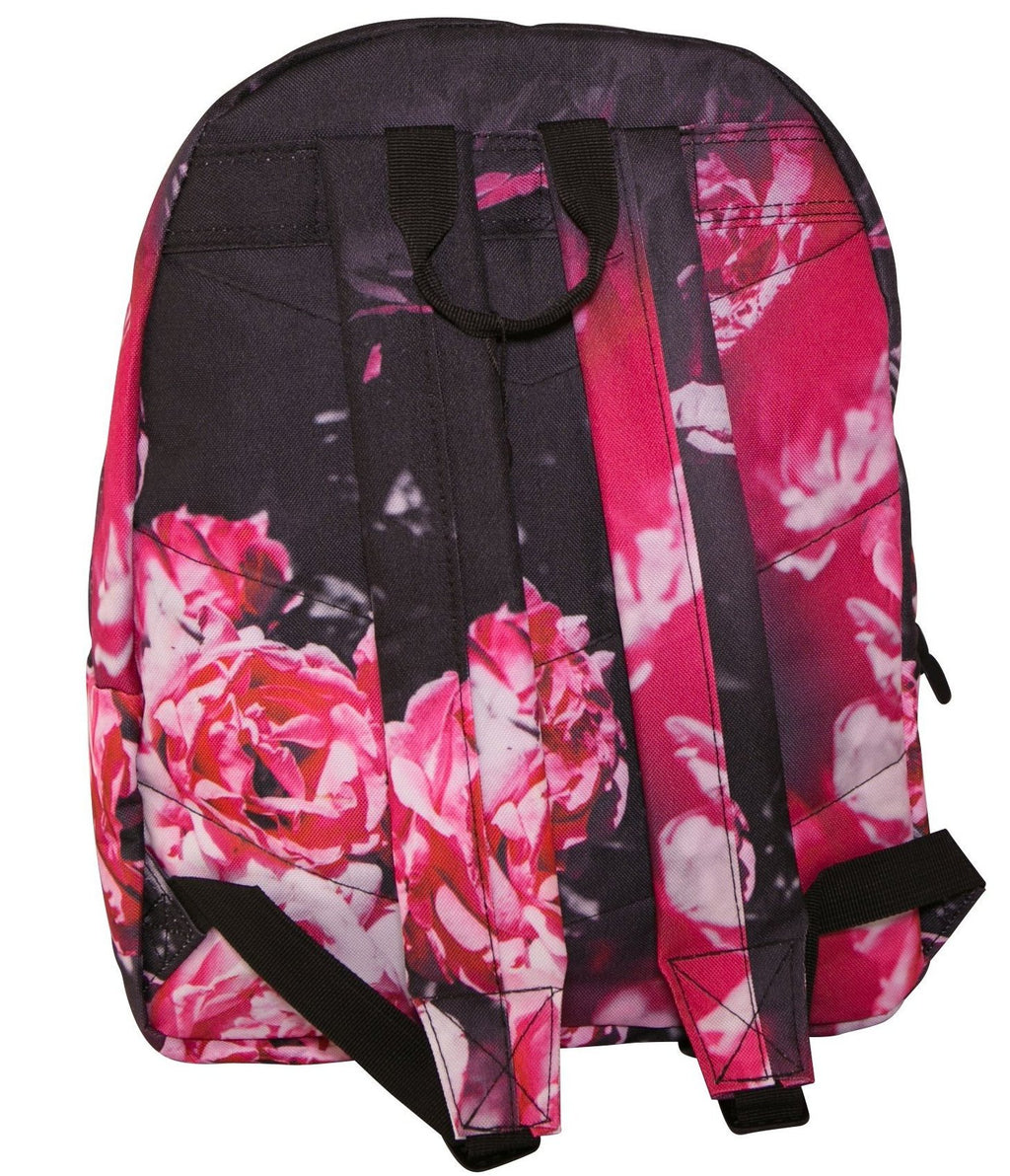 HYPE RED FLORAL BACKPACK RUCKSACK BAG - MULTI