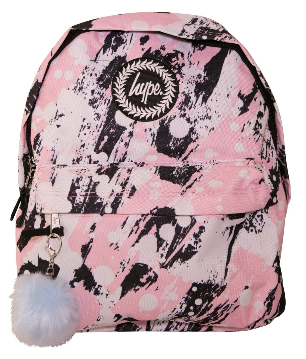 HYPE PINK BRUSHED BACKPACK RUCKSACK BAG - MULTI
