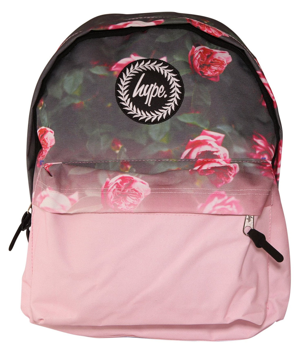 HYPE ROSE FADE BACKPACK RUCKSACK BAG - MULTI/PINK