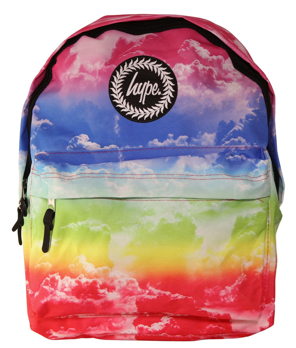 HYPE RAINBOW CLOUDS BACKPACK RUCKSACK BAG - MULTI