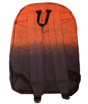 HYPE SPECKLE FADE BACKPACK RUCKSACK BAG - ORANGE/BLACK