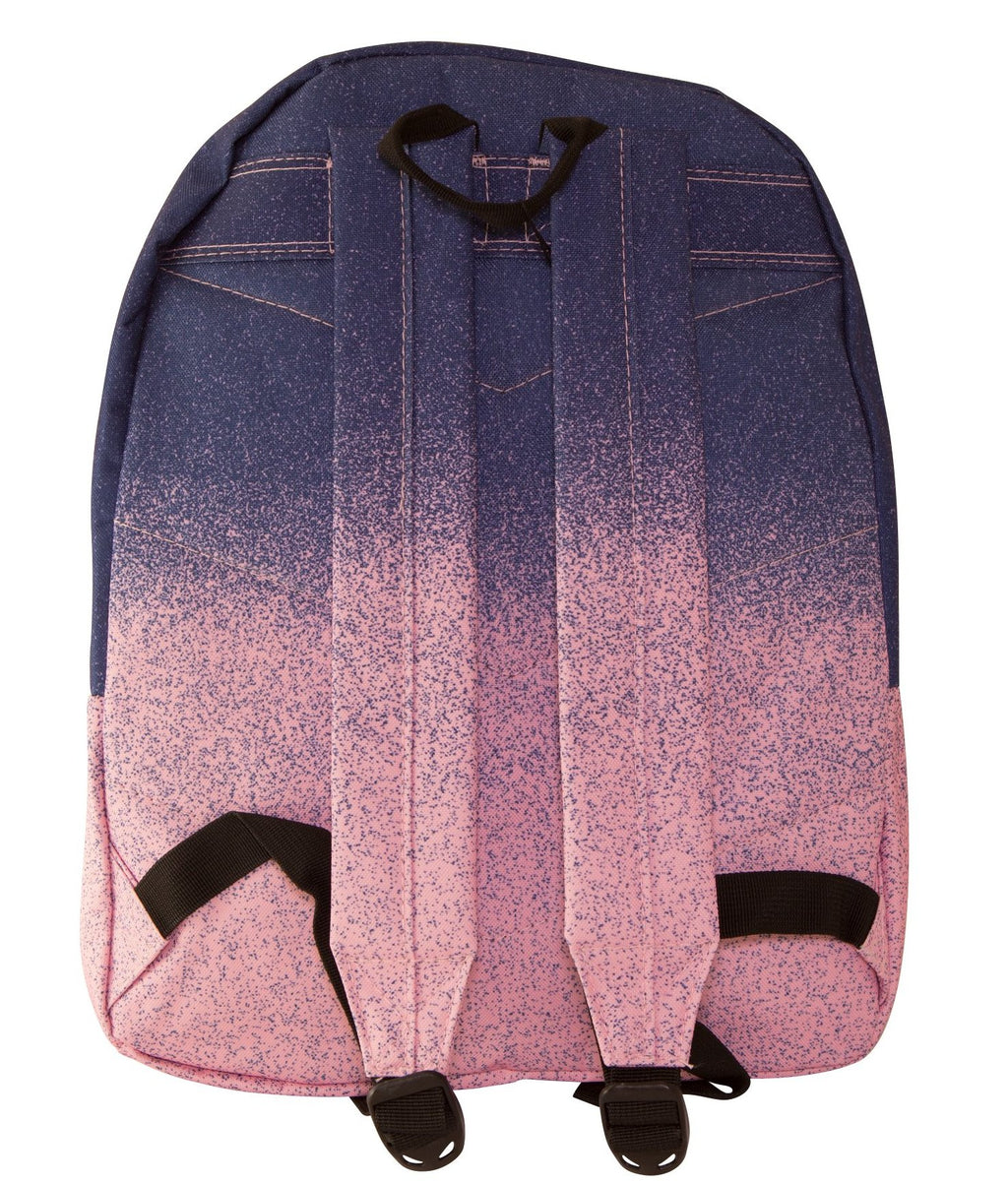 HYPE SPECKLE FADE BACKPACK RUCKSACK BAG - BLUE/PINK
