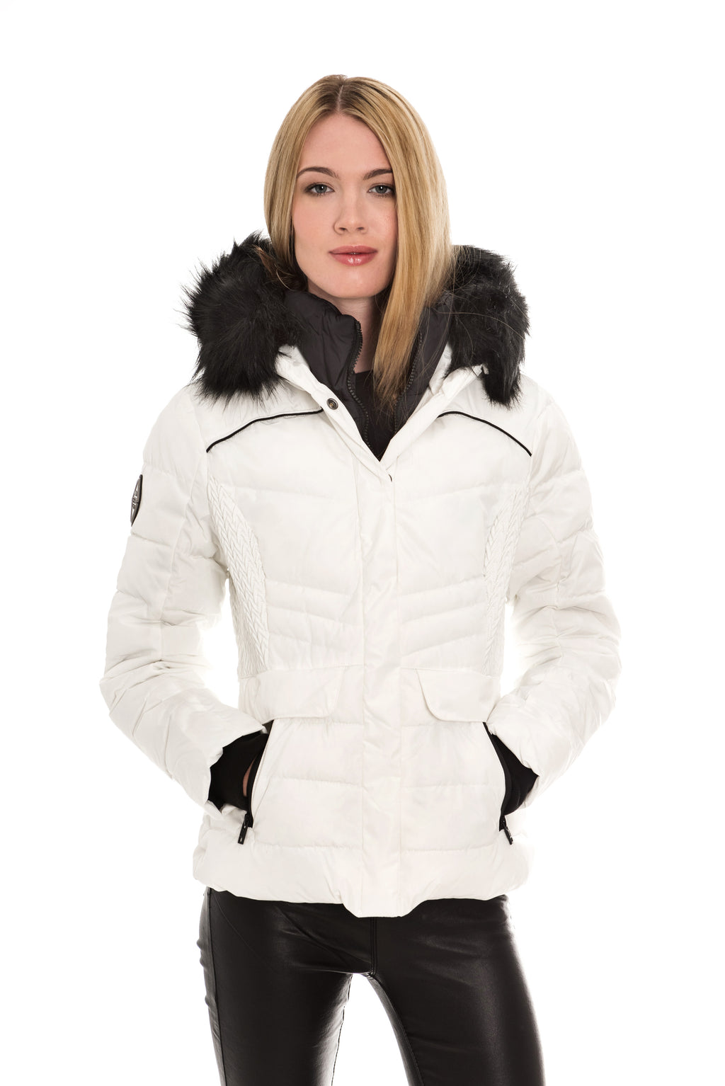 SUPERDRY GLACIER BIKER JACKET - WHITE