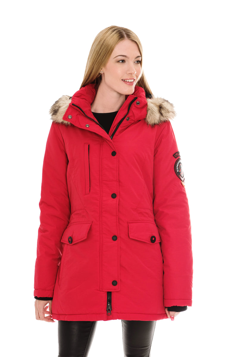 SUPERDRY ASHLEY EVEREST JACKET - RED
