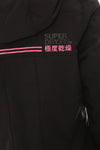 SUPERDRY HOODED WINTER SD-WINDTREKKER JACKET - BLACK/FLURO PINK