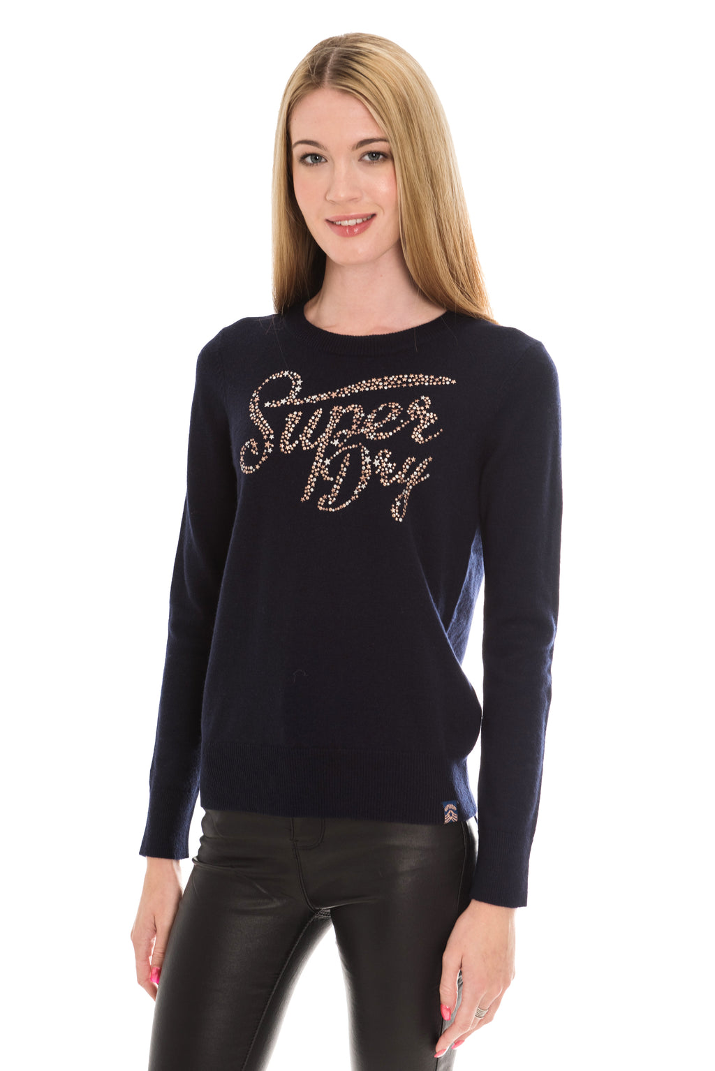 SUPERDRY GEMSTONE JUMPER - INDIGO MARL