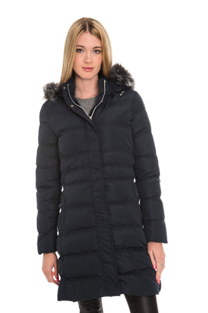RINO & PELLE ROANNA QUILTED LONG COAT - NAVY BLUE