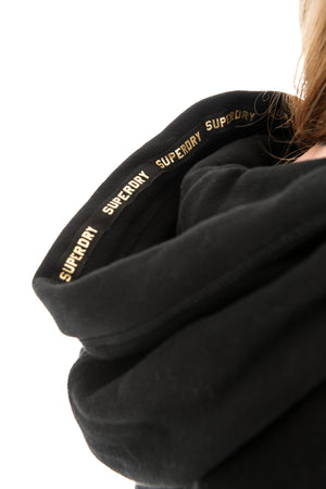 SUPERDRY ORANGE LABEL ELITE ZIP HOODIE - BLACK