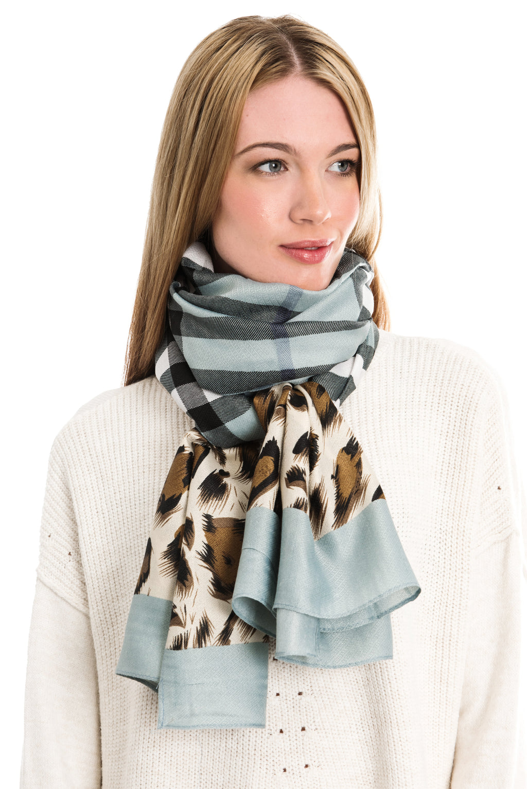 BURBERRY STYLE ANIMAL CHECK SCARF