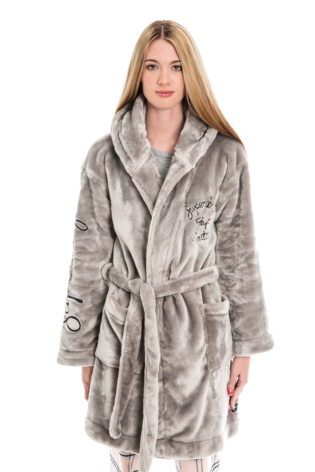 SUPERDRY SOPHIA LOUNGEWEAR ROBE - SKY GREY
