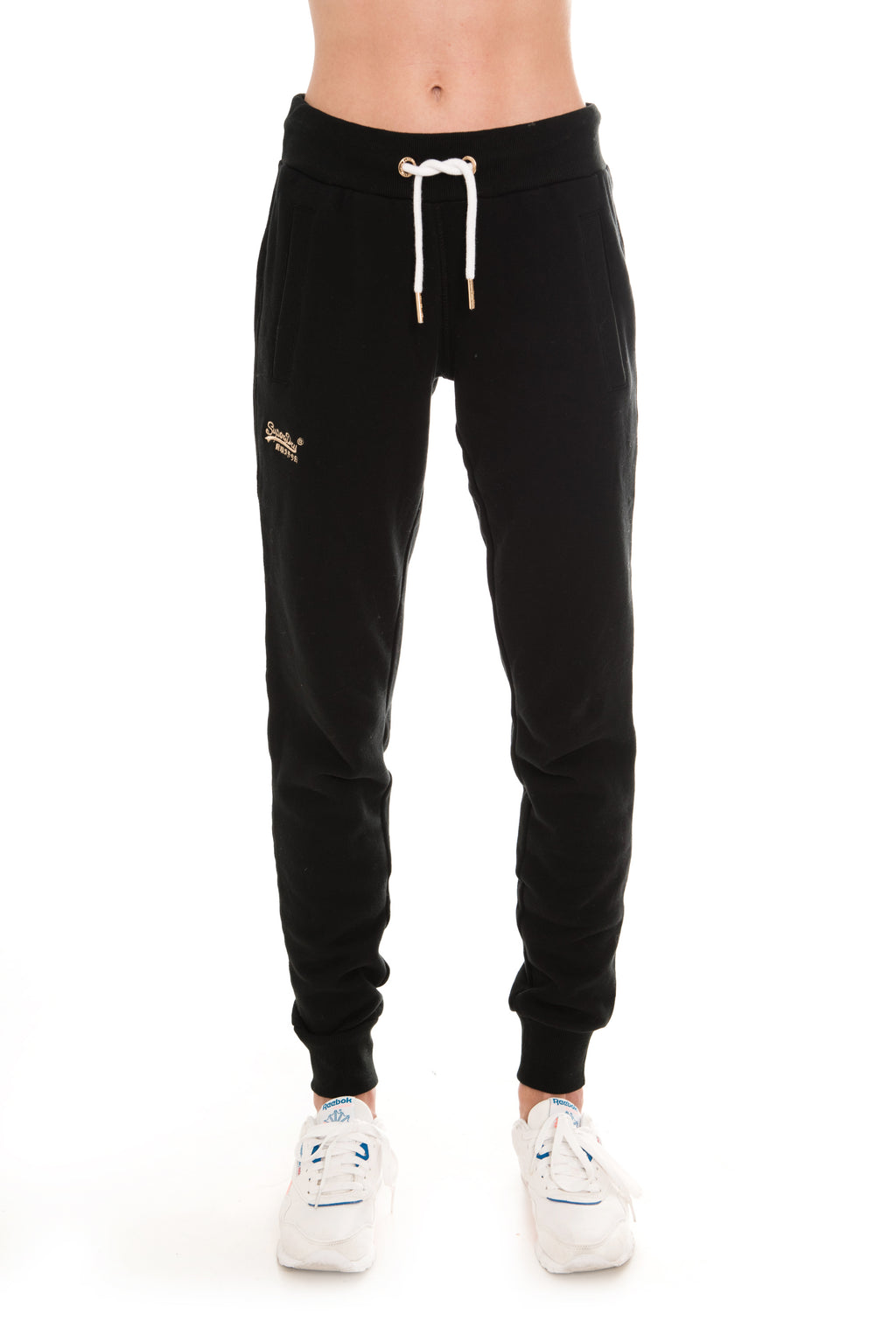 SUPERDRY ORANGE LABEL ELITE JOGGERS - BLACK