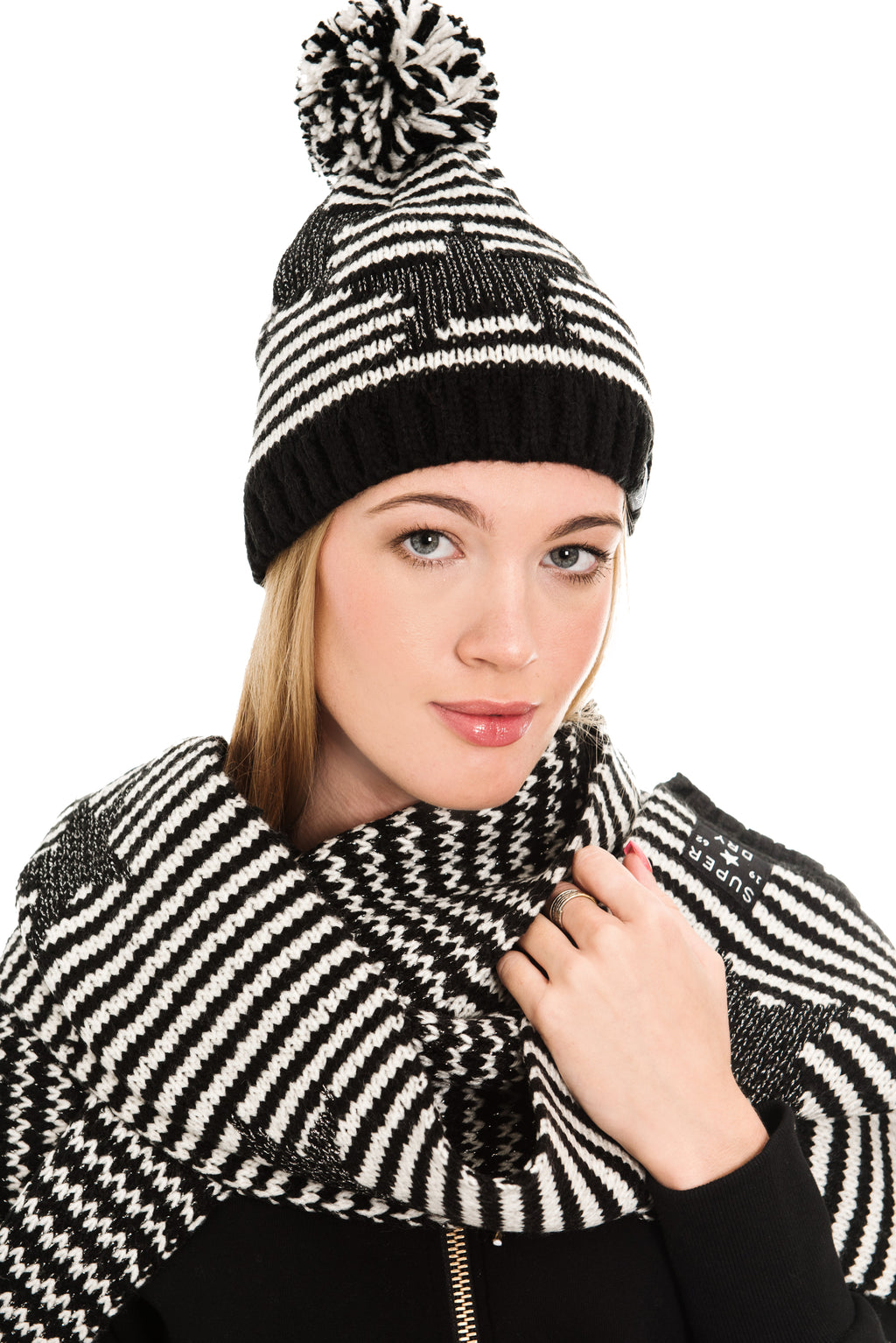SUPERDRY STAR SPARKLE BEANIE - MONO