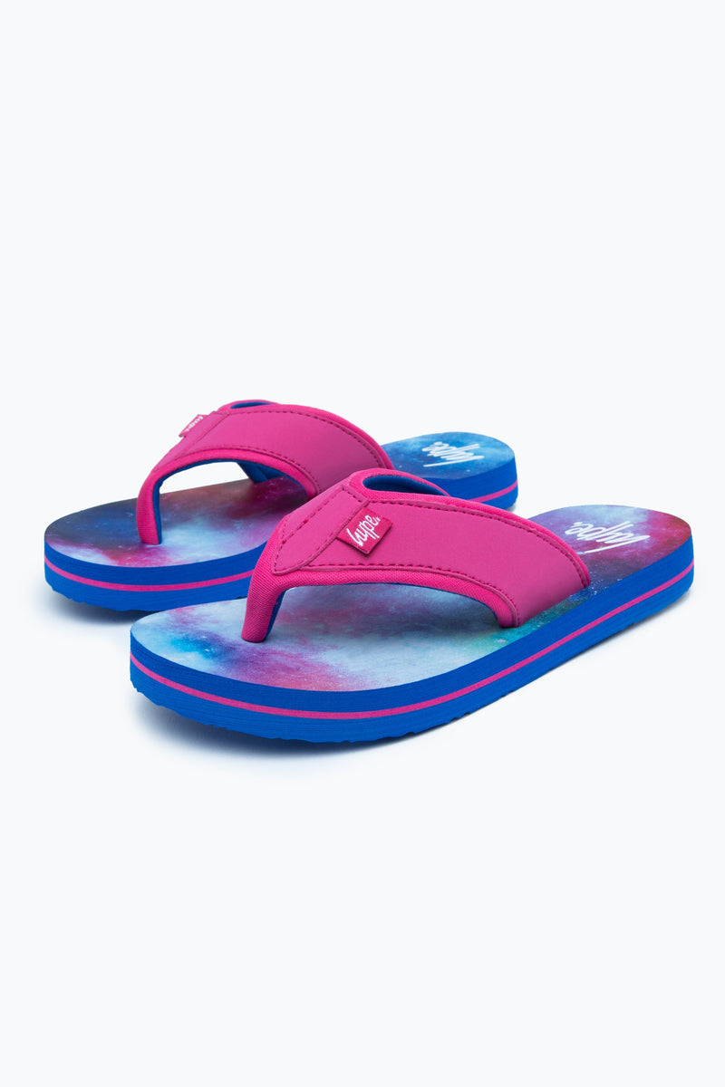 Pink Spacey Kids Foam Flip Flops