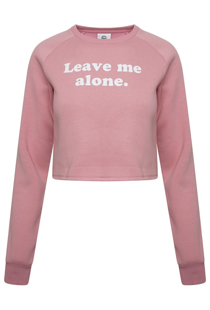 HYPE LEAVE ME CROP CREW SWEATSHIRT - PINK