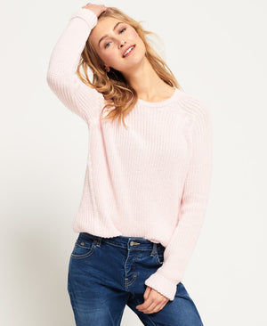 SUPERDRY ALYSSA RIB KNIT - BLUSH PINK