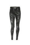 Animal Print Stretch Cotton WR.UP® Sculpting Trousers - Black