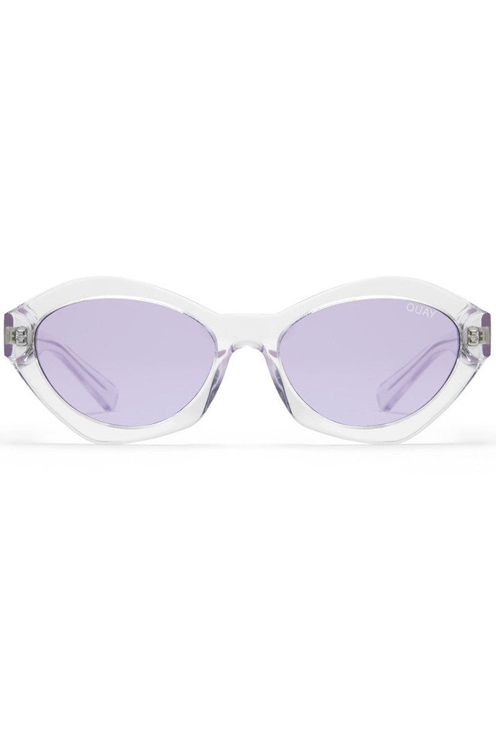 QUAY AUSTRALIA X KYLIE AS IF SUNGLASSES - CLEAR/PURPLE