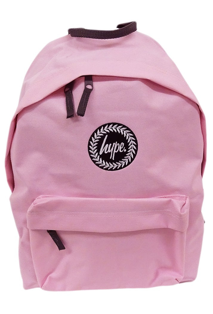 HYPE BADGE BACKPACK RUCKSACK BAG - BABY PINK