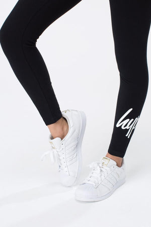 HYPE TAPED LEGGINGS - BLACK