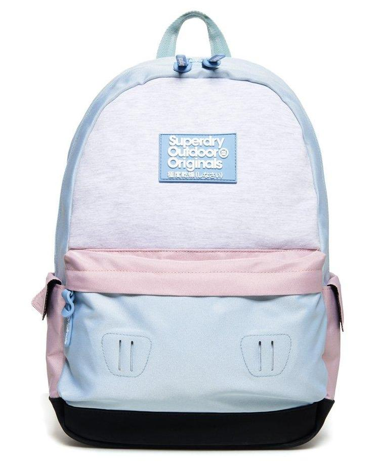 SUPERDRY JERSEY COLOUR BLOCK MONTANA RUCKSACK - BLUE