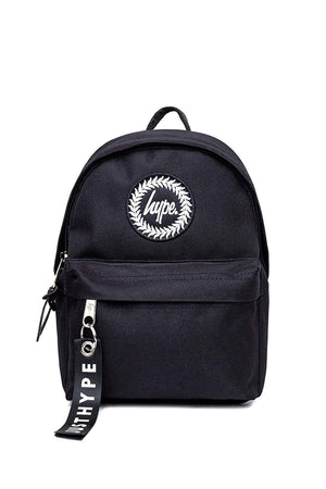HYPE CORE CREST MINI BACKPACK RUCKSACK BAG - BLACK