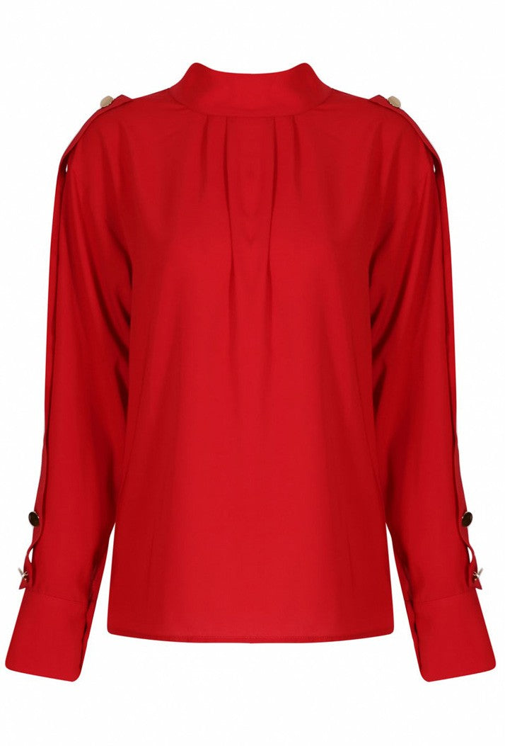 FOREVER UNIQUE DAPHNE BLOUSE - RED