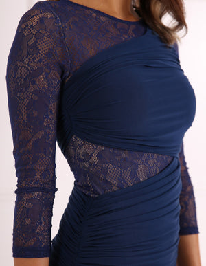 FOREVER UNIQUE TESS BODYCON DRESS - NAVY