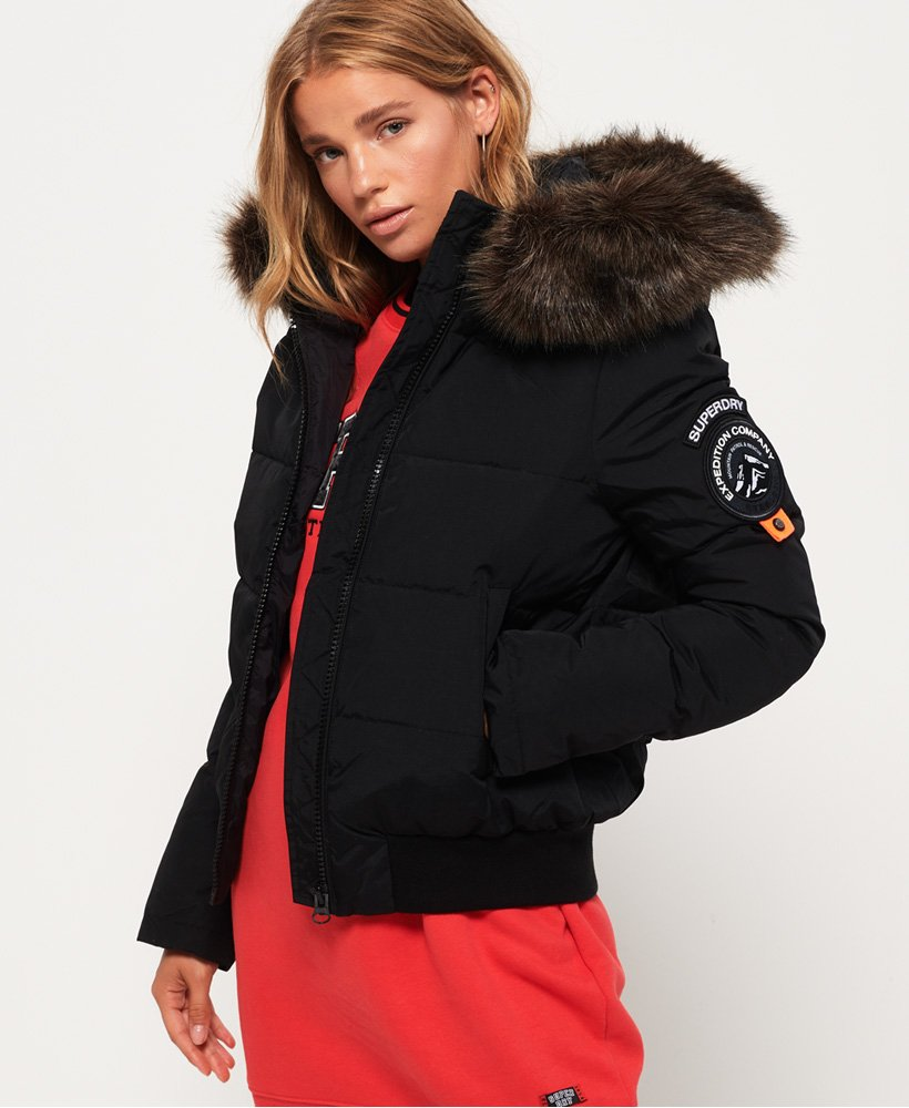 SUPERDRY EVEREST ELLA BOMBER JACKET - BLACK