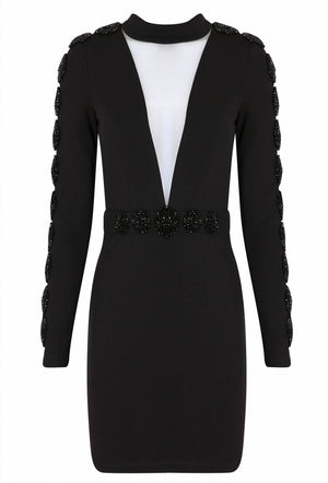 FOREVER UNIQUE ELMA BODYCON DRESS - BLACK