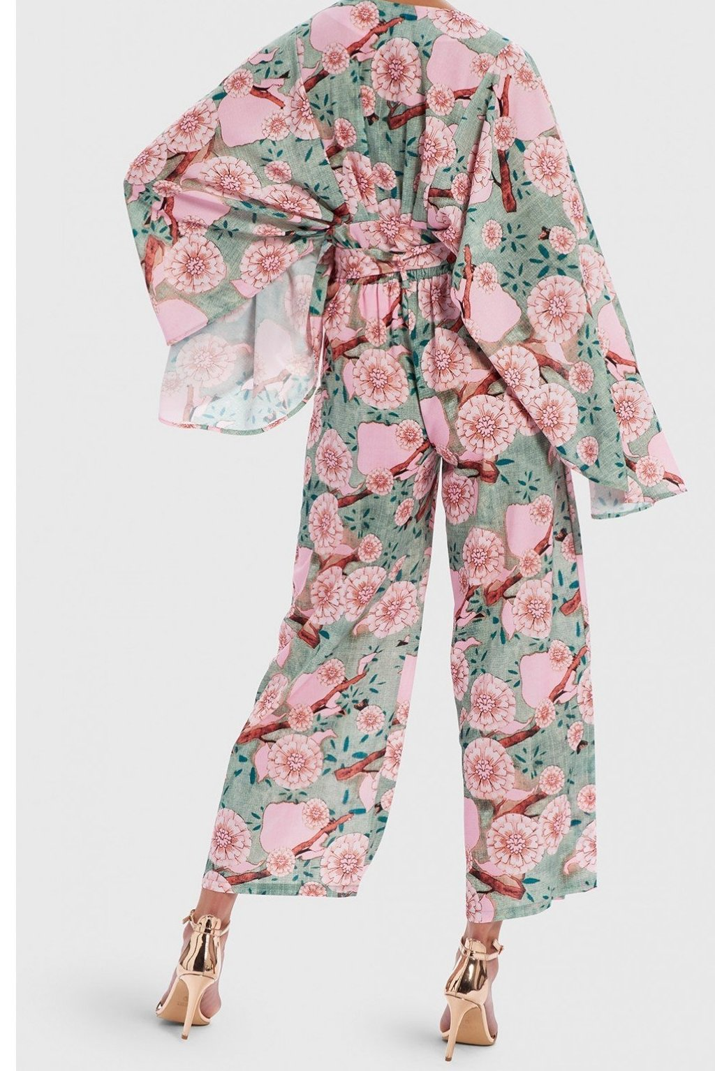 FOREVER UNIQUE U FLORAL PRINT CO-ORD - MINT/PINK