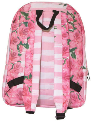 HYPE FLORAL POM POM BACKPACK RUCKSACK BAG - PINK