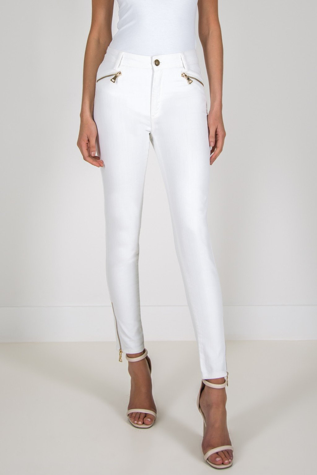 FOREVER UNIQUE GAIL SKINNY JEANS - WHITE