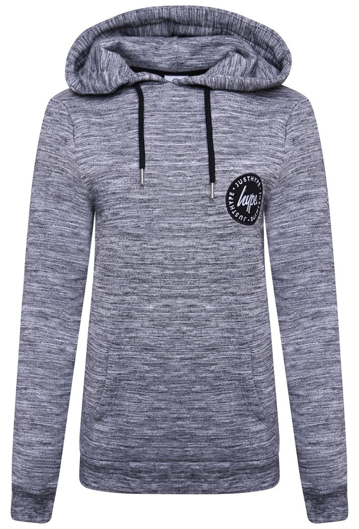HYPE CREST PULLOVER HOODIE - GREY