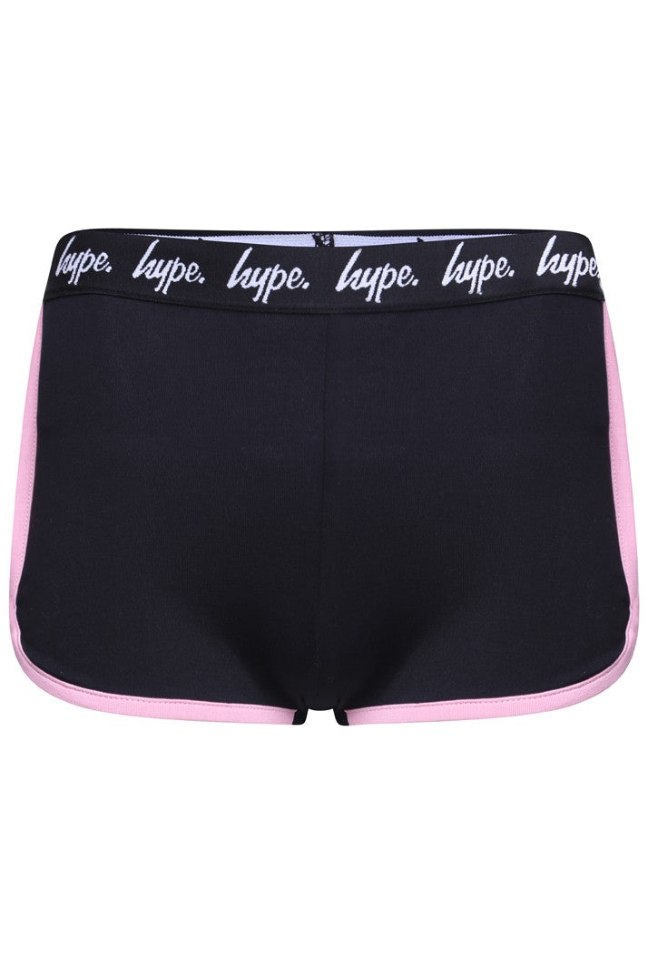 HYPE RUNNING SHORTS - BLACK/PINK