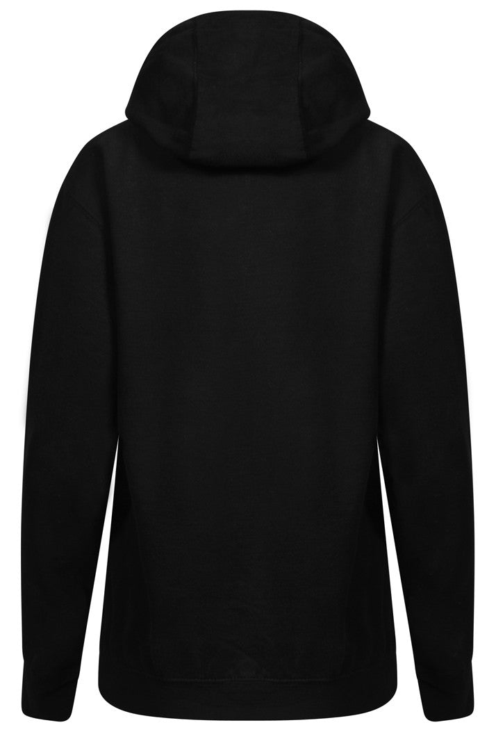 WORK OUT SLOGAN HOODIE - BLACK