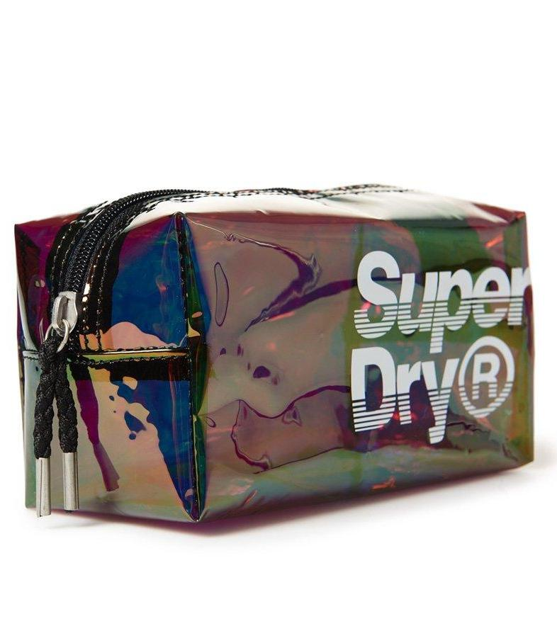 SUPERDRY SUPER JELLY BAG - BLACK IRIDESCENT