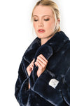 Joela Faux Fur Coat - Navy