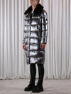 Laluna Long Padded Coat - Aluminium