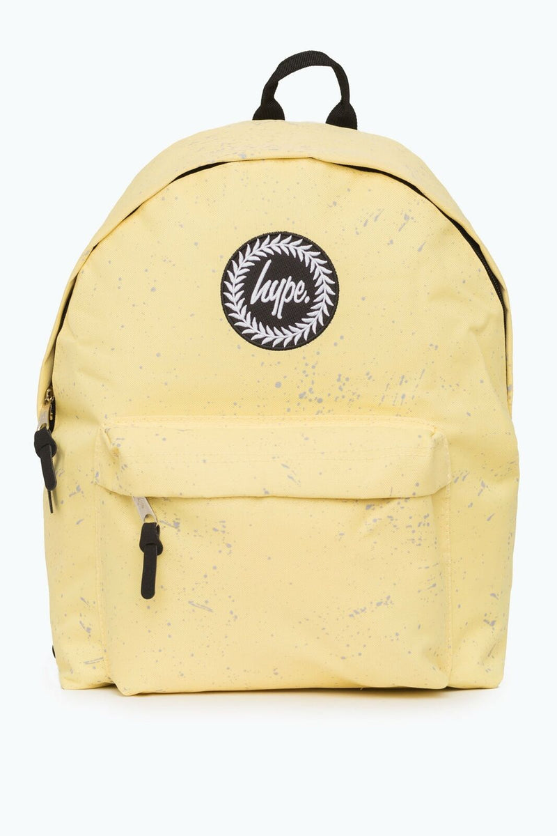 HYPE SPECKLE BACKPACK RUCKSACK BAG - LEMON/GREY