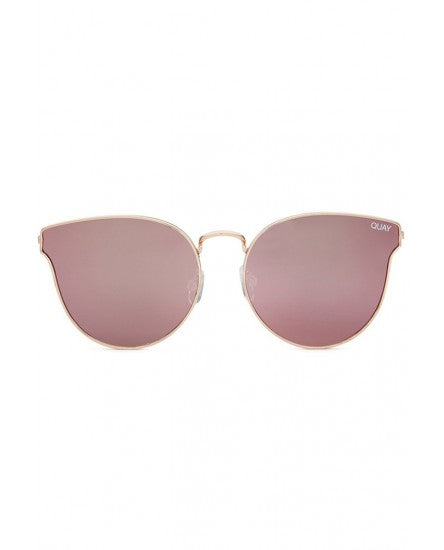 QUAY AUSTRALIA ALL MY LOVE SUNGLASSES - ROSE/PINK