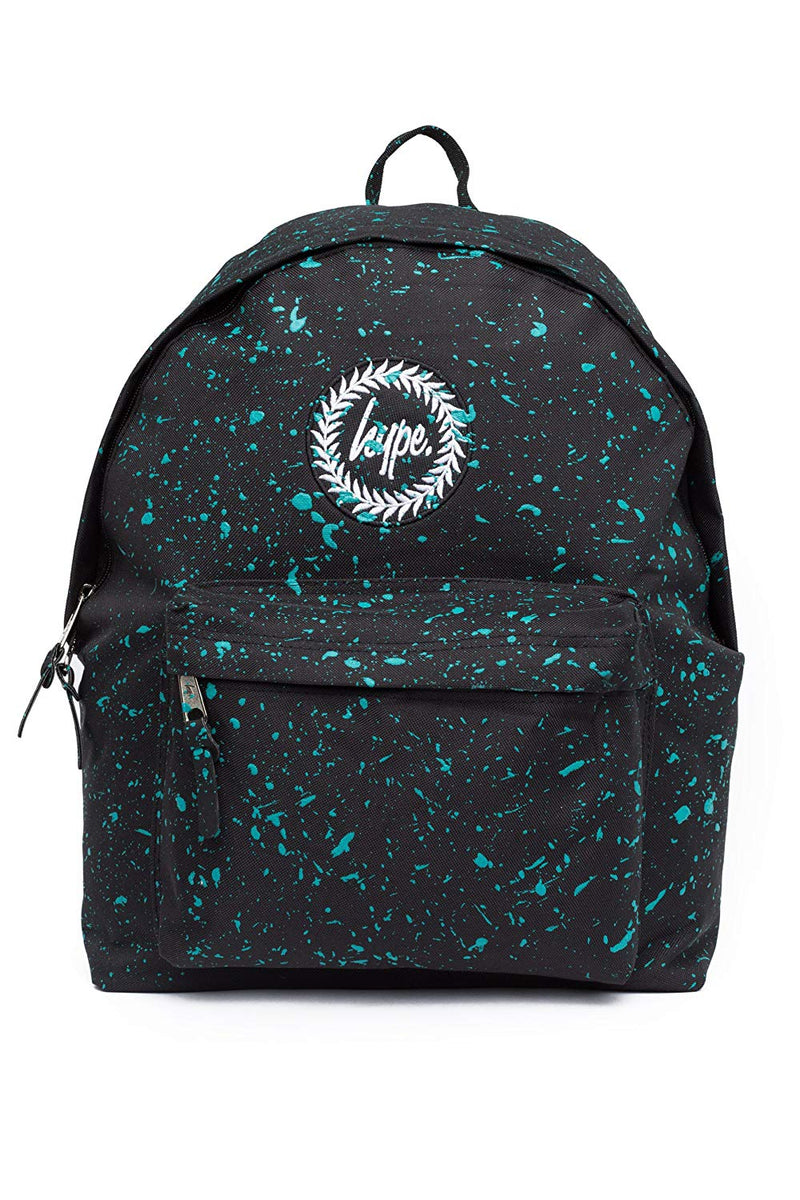 HYPE SPECKLE BACKPACK RUCKSACK BAG - BLACK/MINT