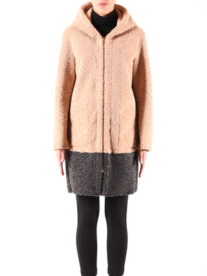 Neomi Two-Tone Faux Fur Coat - Beige