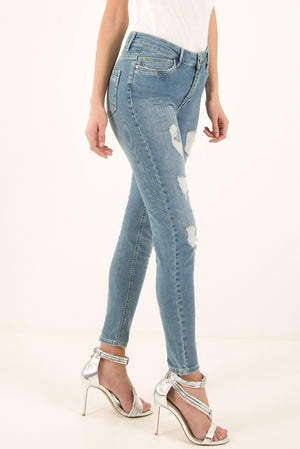 FOREVER UNIQUE PIPER SKINNY JEANS - DENIM