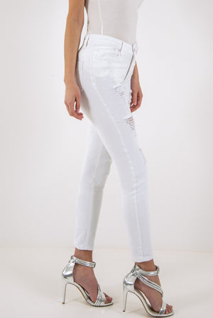 FOREVER UNIQUE PIPER SKINNY JEANS - WHITE