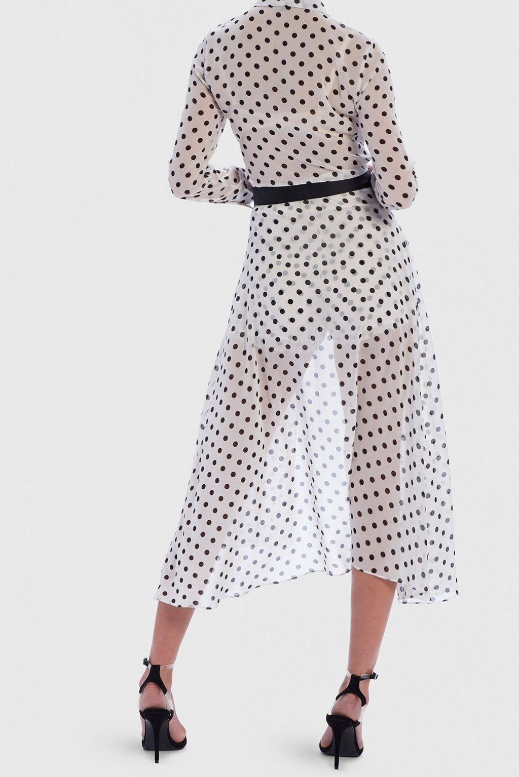 FOREVER UNIQUE U POLKA DOT PLAYSUIT - WHITE
